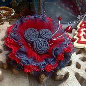 """Украшения ручной работы. Ярмарка Мастеров - ручная работа Брошь """" Winter berries"""". Handmade."""