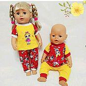 Одежда для кукол ручной работы. Ярмарка Мастеров - ручная работа Комплект из трикотажа, для кукол 38-44 см. Handmade.