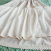 Одежда handmade. Livemaster - original item Long boho style petticoat with lace. Handmade.