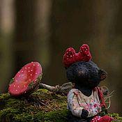 Мишки Тедди ручной работы. Ярмарка Мастеров - ручная работа Аманитаэлька. Handmade.