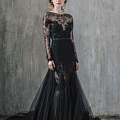 Свадебный салон ручной работы. Ярмарка Мастеров - ручная работа Свадебное платье Black Star. Handmade.