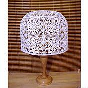 Для дома и интерьера handmade. Livemaster - original item Lace lamp shade for floor lamp or table lamp, crocheted. Handmade.