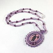 Украшения handmade. Livemaster - original item Bead pendant with rhodusite