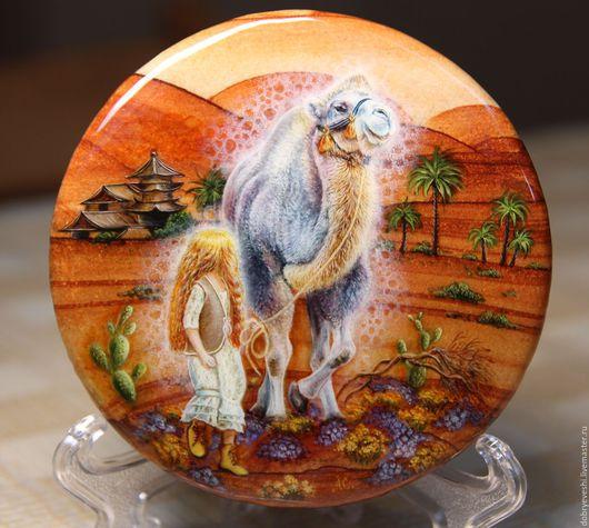 """Животные ручной работы. Ярмарка Мастеров - ручная работа. Купить Панно """"В мире солнца""""- 2. Handmade. Оранжевый"""