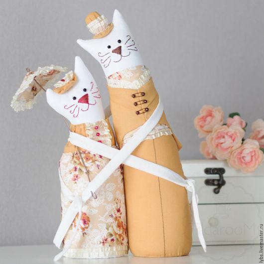 Коты-обнимашки (Миадолла). Ручная работа. Мастерская `Tildaroom` (Люба Морозова) ©