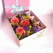 Цветы и флористика ручной работы. Ярмарка Мастеров - ручная работа Sweet box (сладкая коробочка). Handmade.
