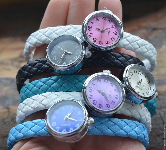 Часы ручной работы. Ярмарка Мастеров - ручная работа. Купить Часы на кнопке с плетеным браслетом NOOSA.. Handmade. Подарок