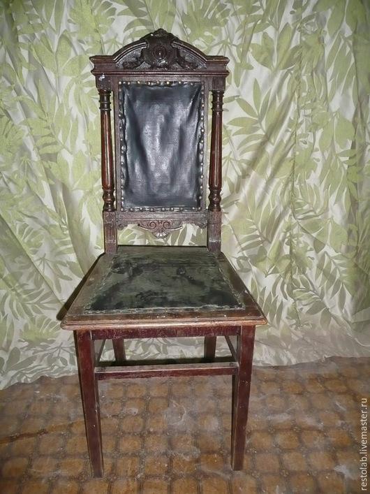 Реставрация. Ярмарка Мастеров - ручная работа. Купить Реставрация старинного дубового стула, конец 19 века... Handmade. Разноцветный, антиквариат
