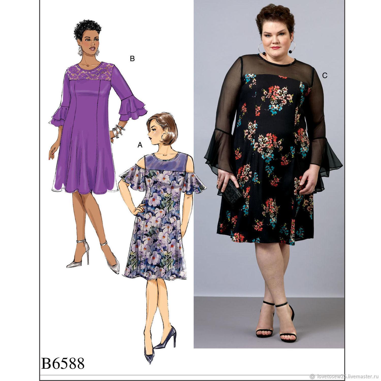 В6588 Выкройки выходных платьев свыше 50 размера для полных женщин, Выкройки для шитья, Санкт-Петербург,  Фото №1