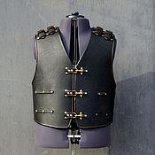 """Одежда ручной работы. Ярмарка Мастеров - ручная работа Жилет - броня """"Schwarze Ritter"""" (Черный Рыцарь). Handmade."""