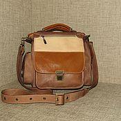 Сумки и аксессуары handmade. Livemaster - original item Crossbody bag: Men`s bag tablet genuine leather GAMBIT. Handmade.