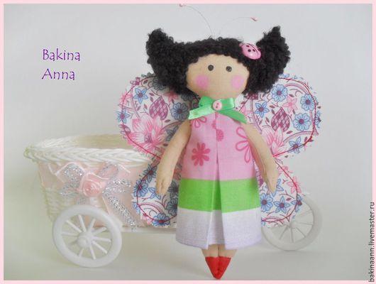 Коллекционные куклы ручной работы. Ярмарка Мастеров - ручная работа. Купить Куколка Бабочка. Handmade. Розовый, бабочка, фея