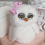 Куклы и игрушки handmade. Livemaster - original item white owl Hedwig with bow in stock. Handmade.