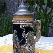 Винтаж handmade. Livemaster - original item Ceramic beer mug, handmade (Germany). Handmade.