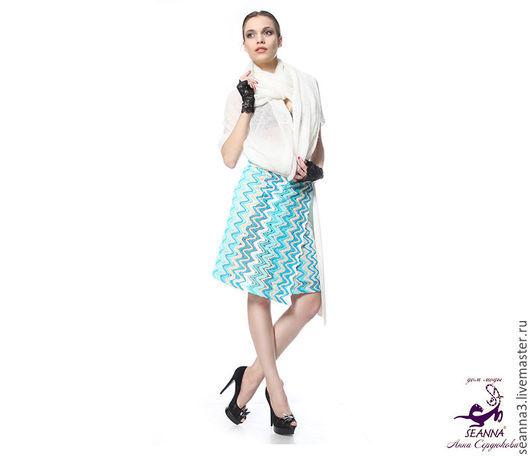 """Юбки ручной работы. Ярмарка Мастеров - ручная работа. Купить Красивая вязаная юбка  """"Missoni"""" безразмерная, в любых цветах, размера. Handmade."""