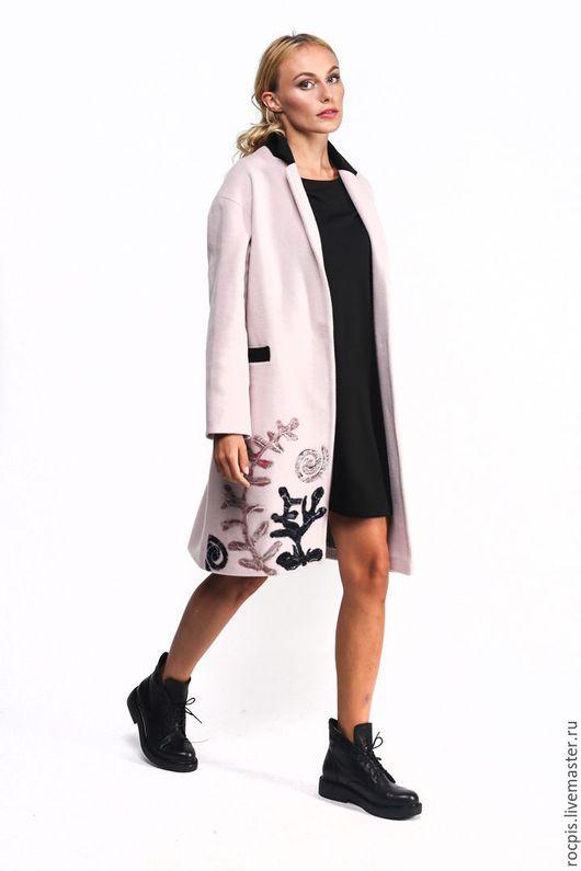 """Верхняя одежда ручной работы. Ярмарка Мастеров - ручная работа. Купить """"Лира"""". Handmade. Бледно-розовый, пальто женское, мода"""