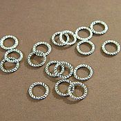 Материалы для творчества handmade. Livemaster - original item Twisted rings are not detachable, silver color, 9 x 2 mm. 10 PCs. Handmade.