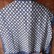 """Винтаж handmade. Livemaster - original item Платок """"Геометрия"""",100% шелк,винтаж Германия. Handmade."""