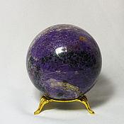 """Для дома и интерьера ручной работы. Ярмарка Мастеров - ручная работа """"Находка"""" шар из чароита. Handmade."""