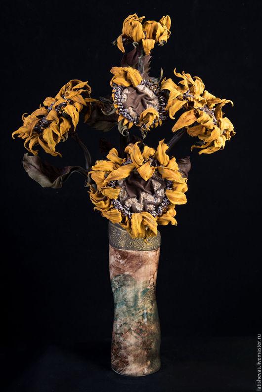 Цветы ручной работы. Ярмарка Мастеров - ручная работа. Купить Подсолнухи. Handmade. Интерьерная композиция, ручная работа handmade