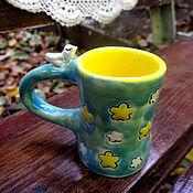 """Посуда ручной работы. Ярмарка Мастеров - ручная работа чашка для кофе """"Птичка"""". Handmade."""