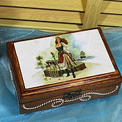 Для дома и интерьера handmade. Livemaster - original item The box is solid wood Pirates to store a man`s gift, decoupage. Handmade.