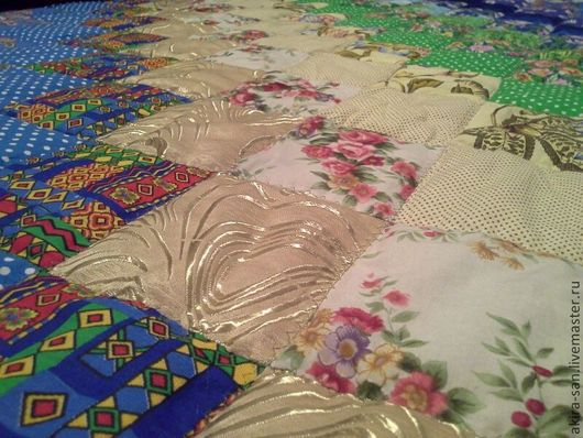 Текстиль, ковры ручной работы. Ярмарка Мастеров - ручная работа. Купить Одеяло лоскутное Дачное идентичное. Handmade. Разноцветный, для дачи