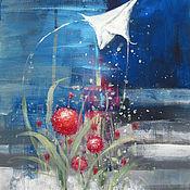 Картины и панно ручной работы. Ярмарка Мастеров - ручная работа Я возьму с собой мой ветер. Handmade.