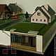 Масштаб макета 1:100.Макет демонстрирует систему очистных сооружений для частных домов.Система показана в разрезе ниже уровня земли.Дома выполнены реалистично,проработка в соответствии с масштабом.