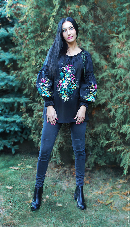 Купить блузку в цветок