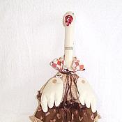 """Для дома и интерьера ручной работы. Ярмарка Мастеров - ручная работа Гусь пакетница """"Шоколад"""". Handmade."""