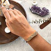 Украшения handmade. Livemaster - original item Lace bracelet: Bracelet with pyrite. Handmade.