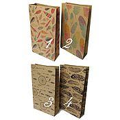 Материалы для творчества ручной работы. Ярмарка Мастеров - ручная работа Крафт пакет 10,3 х 18 х 3,9 см #5 / перья. Handmade.