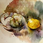 Картины и панно ручной работы. Ярмарка Мастеров - ручная работа акварель Натюрмортик. Handmade.