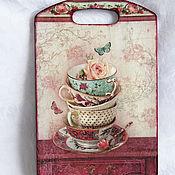 """Для дома и интерьера ручной работы. Ярмарка Мастеров - ручная работа Разделочная доска """"Розовый крем"""". Handmade."""
