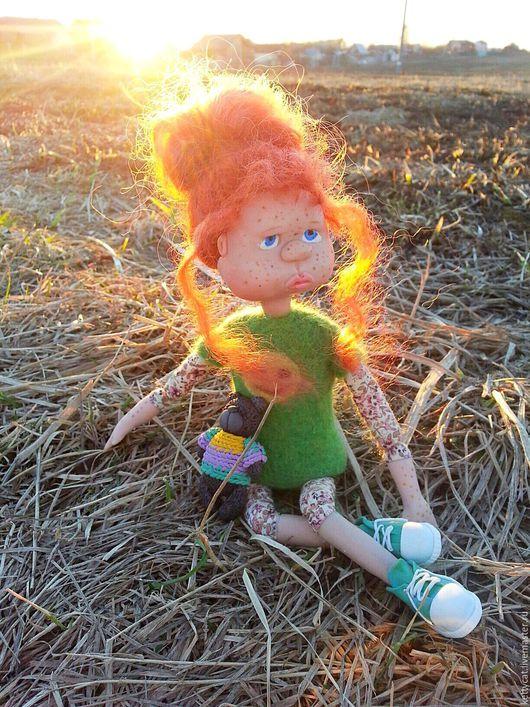 Коллекционные куклы ручной работы. Ярмарка Мастеров - ручная работа. Купить Кукла Солнечная девочка Милашка. Handmade. Рыжий