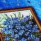 """Картины цветов ручной работы. Заказать Картина из бисера """"Васильки"""" 44 х 33 см. Картины из бисера (biserrussia). Ярмарка Мастеров."""