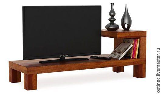 Мебель ручной работы. Ярмарка Мастеров - ручная работа. Купить Тумба для TV Астрид. Handmade. Коричневый, мебель для гостинной, бук