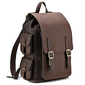 Сумки и аксессуары handmade. Livemaster - original item Backpacks: Leather backpack