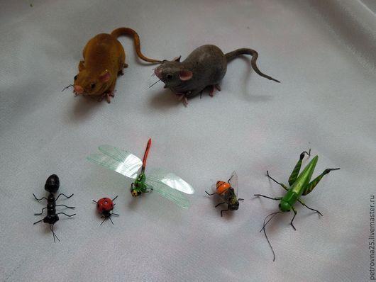 Другие виды рукоделия ручной работы. Ярмарка Мастеров - ручная работа. Купить Пчелка ,б. Коровка,муравей (мышей нет). Handmade.