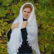 Аксессуары ручной работы. Ярмарка Мастеров - ручная работа Ажурный платок из козьего пуха.. Handmade.