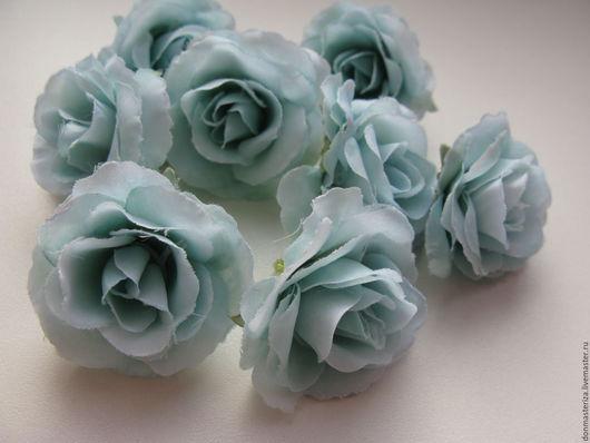 Материалы для флористики ручной работы. Ярмарка Мастеров - ручная работа. Купить Головки роз ,голубого цвета. Handmade. Голубой, розочки