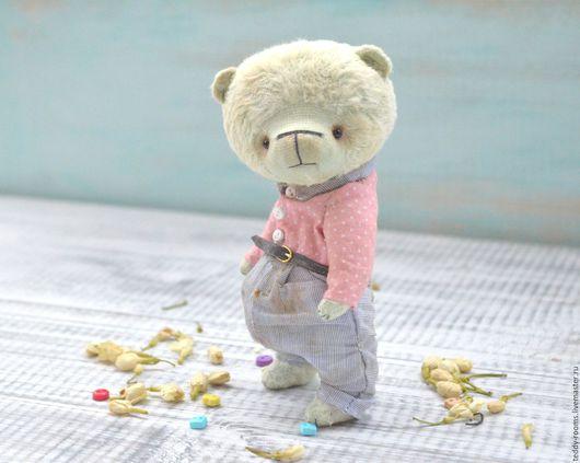 Мишки Тедди ручной работы. Ярмарка Мастеров - ручная работа. Купить Мишка тедди Ёся. Handmade. Мишки тедди мятный