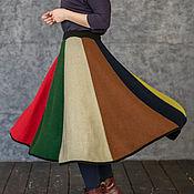 Одежда handmade. Livemaster - original item The knitted MIDI skirt with wedges. Handmade.