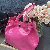 Винтаж handmade. Livemaster - original item Pink punch. Lacquer shopper / beach bag by Joan Ri. Handmade.