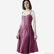 Одежда handmade. Livemaster - original item Summer dress with thin straps. Handmade.