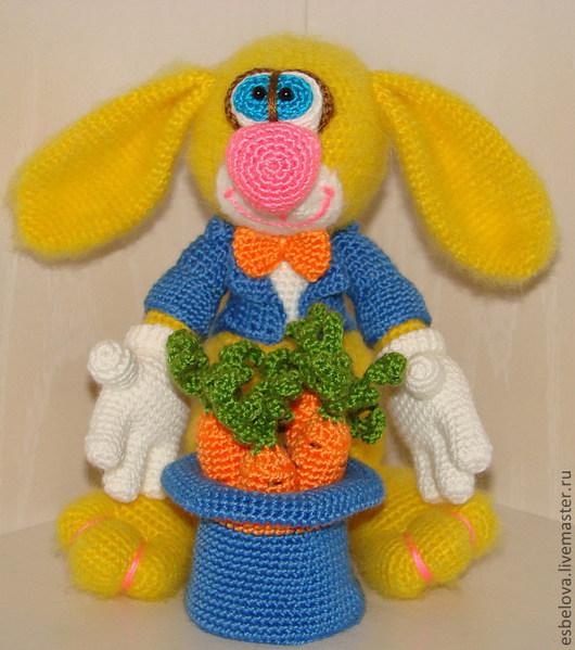 Обучающие материалы ручной работы. Ярмарка Мастеров - ручная работа. Купить Мастер-класс по вязанию Зайца - Джентельмена. Handmade.