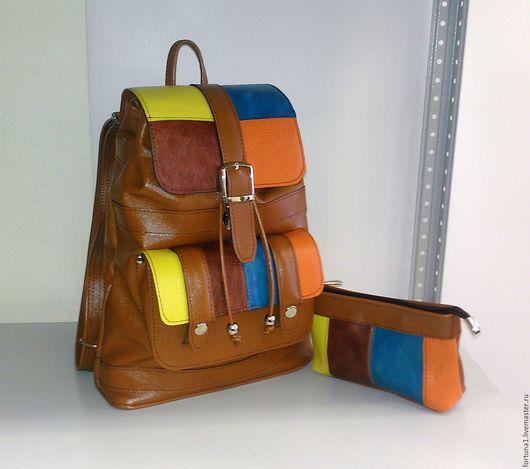 Рюкзаки ручной работы. Ярмарка Мастеров - ручная работа. Купить Рюкзак кожаный 76. Handmade. Рюкзак, рюкзак городской