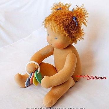 Куклы и игрушки ручной работы. Ярмарка Мастеров - ручная работа Лялечка-голышка. Handmade.