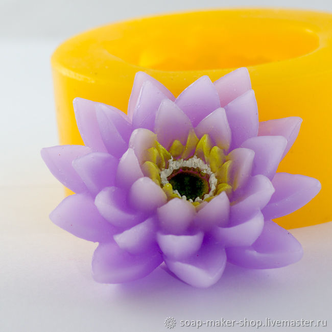 Silicone mold for soap '3D Flower', Form, Shahty,  Фото №1